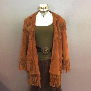 💥Sale!💥 Fringe/suede jacket. Was $699